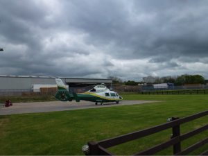 Helicopter of the Great North Air Ambulance Service