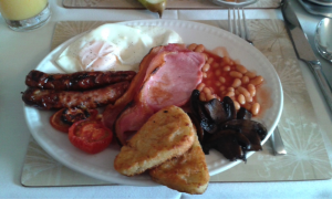 Original English Breakfast served by Thomas at Tynedales B&B